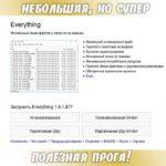 Everything – Мгновенный поиск файлов и папок по их именам.